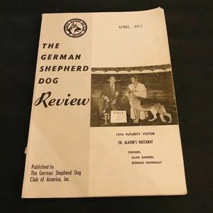 German Shepherd Dog Review April 1975 GSD Club